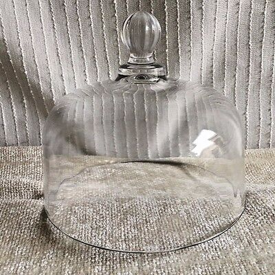 """6"""" Clear Glass Dome Cheese Cover Saver"""