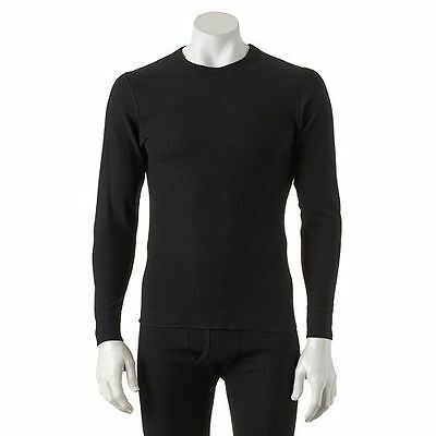 """Lot Of 2-$28 Mens Hanes Black Ultimate Thermal Shirt/top 2Xl/2X/xxl 50-52"""" Chest"""