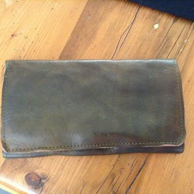 Unwanted Gift-Termono Leather Wallet in Olive Green BNWT. Aust made RRP $300
