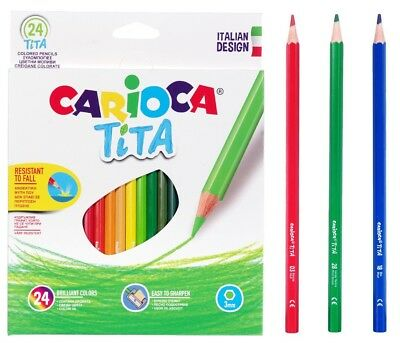 CARIOCA TITA HEXAGONAL COLOURED PENCIL BREAK RESISTANT INTENSE COLOUR 24pcs