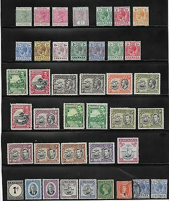 Collection Of Grenada Stamps Queen Victoria Onwards Mostly Unused