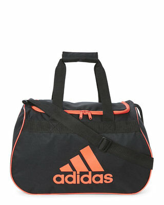 adidas Diablo Small Duffel  Gym Bag  Black Orange logo