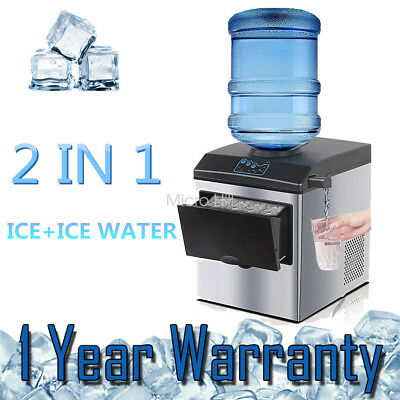 Auto Ice Cube Cold Water Maker Bench top Portable Freezer Machine Home Office AU