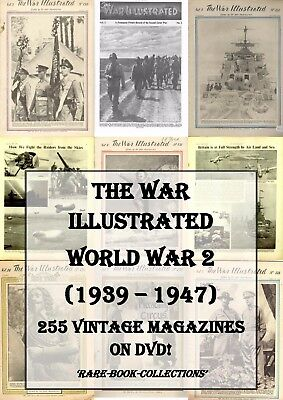 The War Illustrated - World War 2 Ww2 - Complete Set Of All 255 Magazines On Dvd