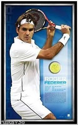 Roger Federer Hand Signed Framed Limited Edition Ball Certificate Wimbledon Open