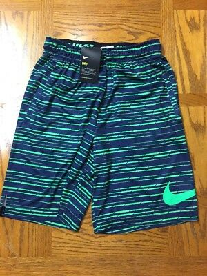 Men's Small Nwt Nike Shorts Black/green Athletic Dri Fit Running Wear Shorts