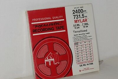 Radio Shack Realistic 7 Inch Reel To Reel Recording Tape 2400 High Fidelity