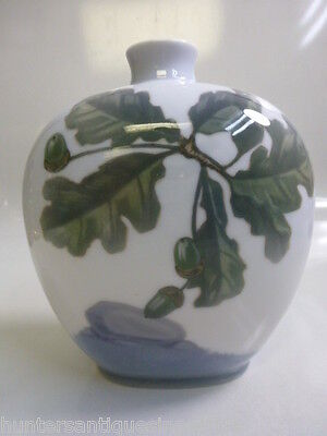 Vintage Royal Copenhagen acorns over rocks in water Vase #1029 / 134 / 128