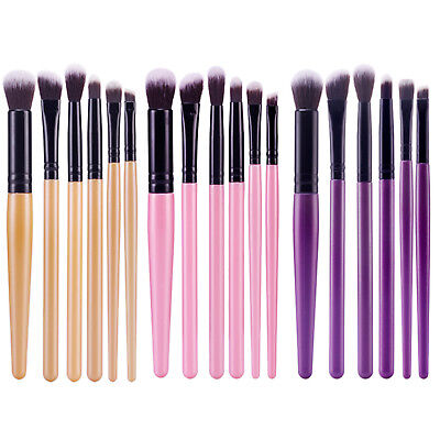 6PCS Professional Eyeshadow Eyebrow Blending Brush Set Eye Makeup Brushes NEW
