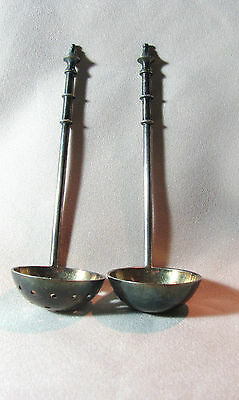 Vintage Teabag Strainer Spoon With Matching Solid Spoon