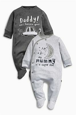 Boys sleepsuits 3-6 months NEXT new