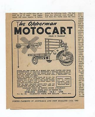 Opperman Motocart Advertisement from 1952 Farming Magazine Farm