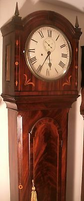 "Antique Mahogany Regulator "" London "" 8 Day Longcase / Grandfather Clock"