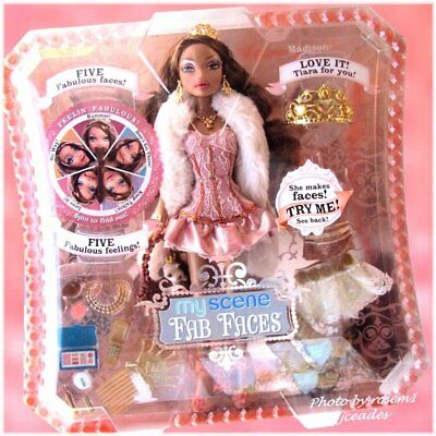 New 2006 Barbie My Scene Fab Faces MADISON Doll & TIARA for you Age 6-14