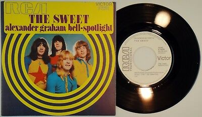 THE SWEET ‎– Alexander Graham Bell •  45 Spain PROMO – MINT * 1975 RCA Glam Rock