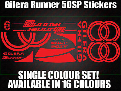 Gilera Runner 50sp Decals/Stickers-ALL COLOURS AVAILABLE- 172 183 GILLY