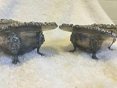 Large Pair. Lovely Quality Silver Plate Salt Cellars