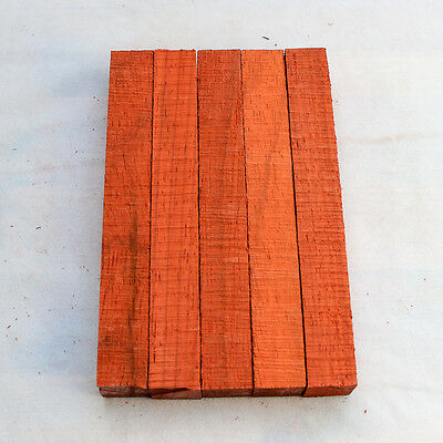 Five Padauk wood blanks for pen turning and small woodworking projects