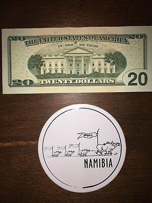Namibia Doodle Sticker Decal Fast Shipping From Canada