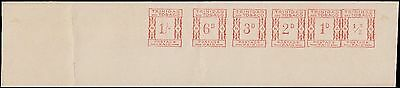 Trinidad & Tobago Postage Paid Unique Meter Franking 6 Values Proof - Must See!!