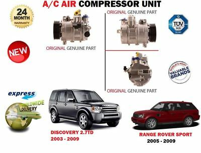 For Land Rover Discovery Range Rover Sport 2.7Td 2003-2009 New Ac Air Compressor