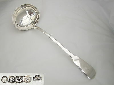 Rare George Iv Hm Sterling Silver Soup Ladle 1827
