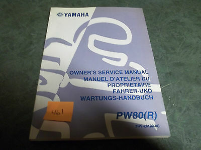 Yamaha dealer service manual  PW80 R printed 2002