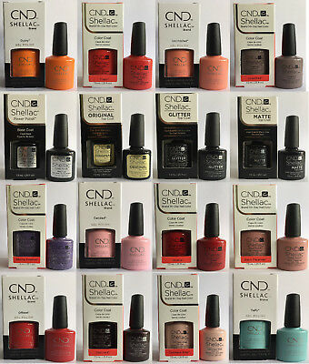 CND Shellac UV Nail Polish Choose from A-Z over 119 COLOURS & GLACIAL ILLUSIONS