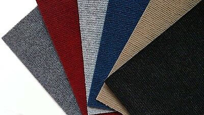 Carpet Tiles Peel and Stick 288 Square Ft Choice of Black Red Tan Gray Blue Grey