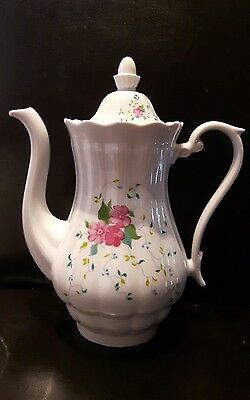 """stunning china teapot made in England marked on the bottom 10"""""""