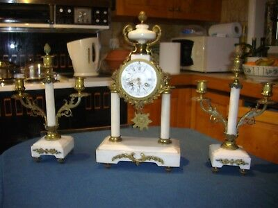 Super 19th. Century French Mantle clock & Candelabrum.