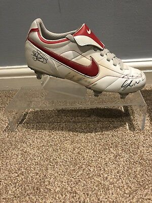Signed Nike Football Boot - Ronaldo / Rooney / Solksjaer - Collector's Item