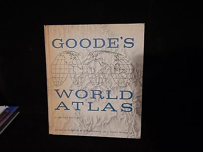 1960 Goode's World Atlas 11th Ed.  Rand McNally