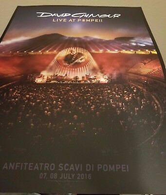 David Gilmour Pink Floyd Live At Pompeii Rare Limited Lithograph 200 -Us Version