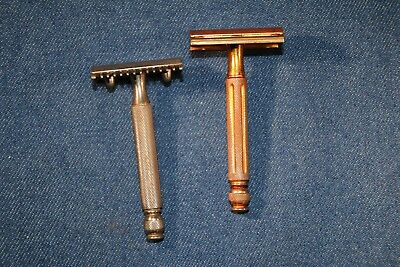 Lot of 2 Vintage Gillette Ball Handle Razors - nice condition