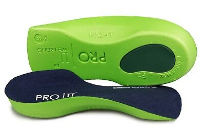 Pro11 wellbeing slimfit Orthotic shoe inserts Green