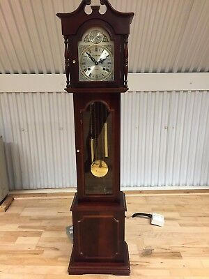 Retro Vintage Original Winding Grand Father Clock Chime In Good Working Order