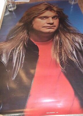 OZZY OSBOURNE Vintage POSTER 1982 Anabas Products Made in England Original