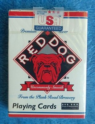 NEW SEALED RED DOG Beer Playing Cards Hoyle Plank Road Brewery
