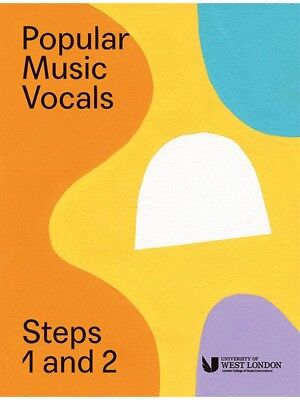 London College Of Music Popular Vocals Steps 1 & 2 VOICE Choral Sing MUSIC BOOK