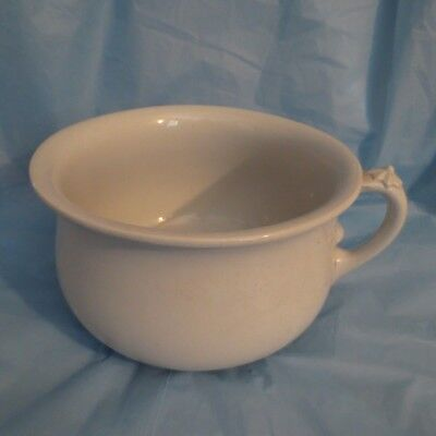 ANTIQUE J.W. PANKHURST & CO. STONE CHINA CHAMBER POT Hanley, England