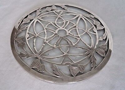 Unusual Scottish Thistle 1933  Sterling / Solid Silver Tea Pot Stand