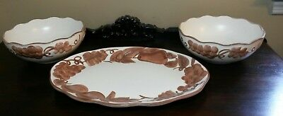 Stangl Hand Painted Sierra Serving Platter & Bowls