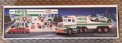 1991 HESS Toy Truck and Racer New in Original Box Collectible (Head/Rear Lights)