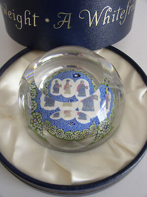 Whitefriars Christmas 'Three Wise Men' Paperweight 1976 Box/certificate 813/1000