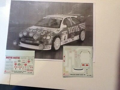 Decal Ford escort cosworth Snijers Bastos spa 96 1/43