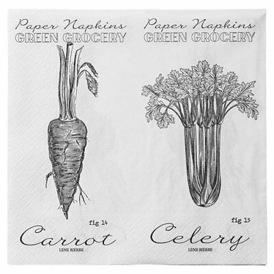 Green Grocery Root Vegetable Napkins