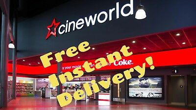 *INSTANT EMAIL* Cineworld Cinema Adult 2D Tickets Vouchers Codes 6 month expiry!