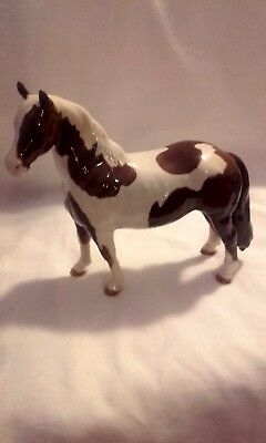 Fabulous Pair Of Beswick Pinto Ponies; Both 2Nd Vers -Tail Loose (Model No:1373)