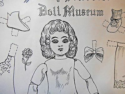 Vtg Antique French Tete Jumeau Doll Paper Doll By Jayne Keller - Uncut - 1973